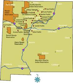 New Mexico Casinos Map by Casino In New Mexico Map