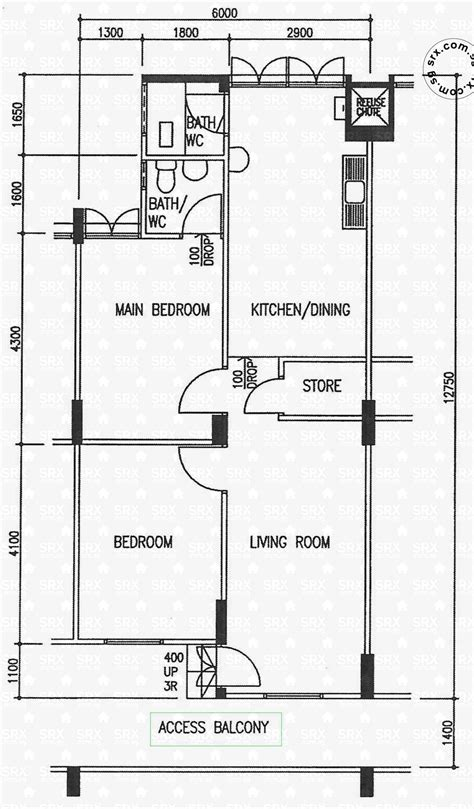 hdb flat floor plan floor plans for eunos crescent hdb details srx property