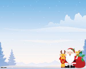 free christmas powerpoint template with blue background