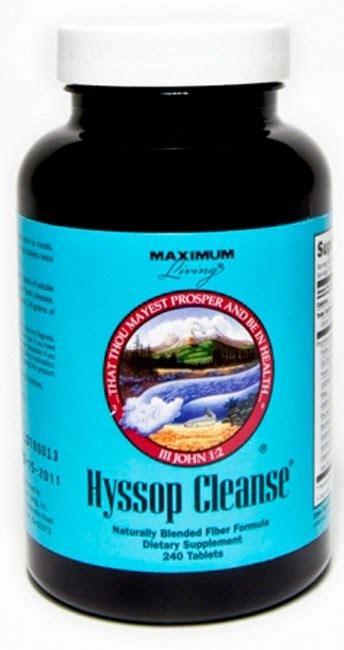Rhubarb Detox Tablets by Maximum Living Hyssop Cleanse 240 Tablets Health