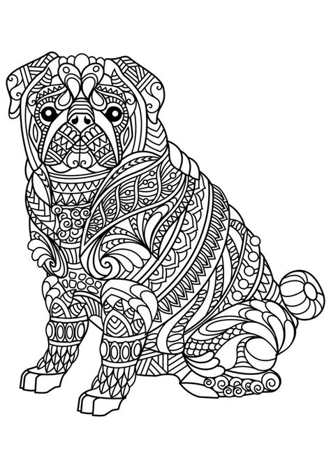 coloring pages of dogs for adults 629 best colouring cats dogs zentangles images on
