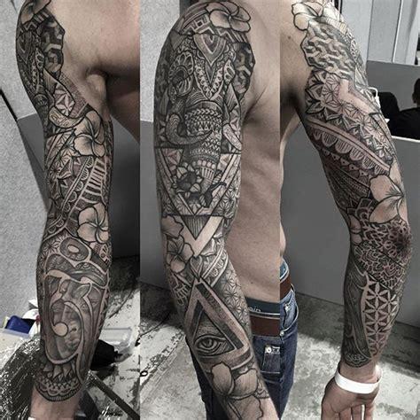 instagram tattoo sleeve geometric tattoo p a u l d a v i e s on instagram