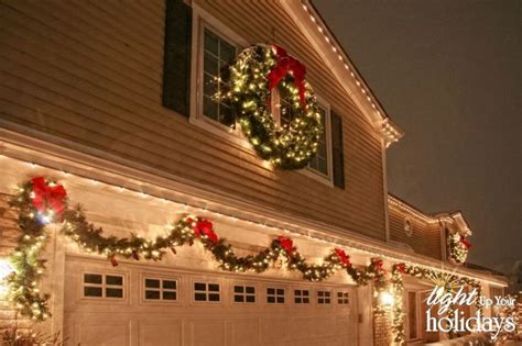 christmas murels lights on garage door myideasbedroom com