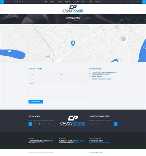 themeforest psd crosspower sport gym fitness psd template by wprollers