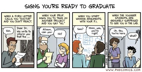 Kaos Meme Baam Best Quality phd comics signs you re ready to graduate