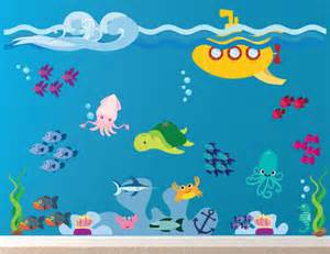 pics photos under the sea wall stickers decowall dw 1311 under the sea wall stickers removable