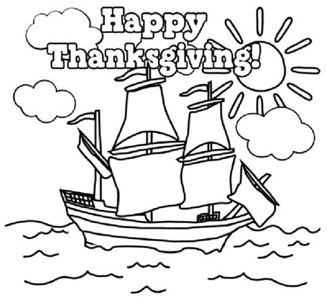 Thanksgiving Coloring Pages Happy Thanksgiving Color Pages