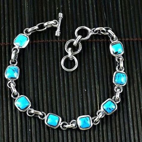 Handmade Mexican Jewelry - handcrafted mexican alpaca silver and turquoise cube