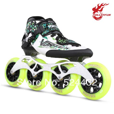 shoe skates rollerfun rv702 child professional speed skating shoes