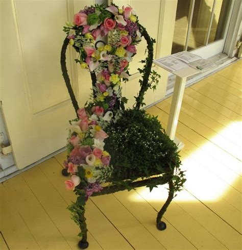 Floral Chairs For Sale Design Ideas Turn Chairs Into Beautiful Flower Beds And Planters
