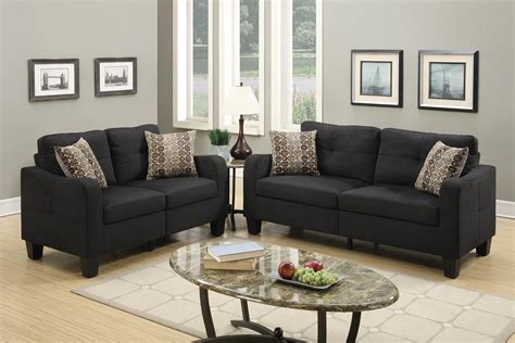 black sofa and loveseat black fabric sofa and loveseat set a sofa