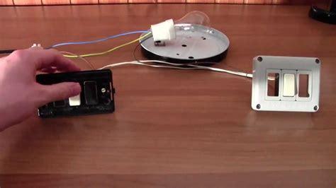 accensione di una lada da due punti cablaggio e funzionamento di un punto luce deviato