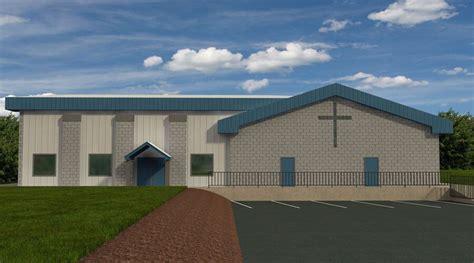 Superb Church Fellowship Hall Floor Plans #8: Bishop-Steel-Church-Rendering-1.jpg