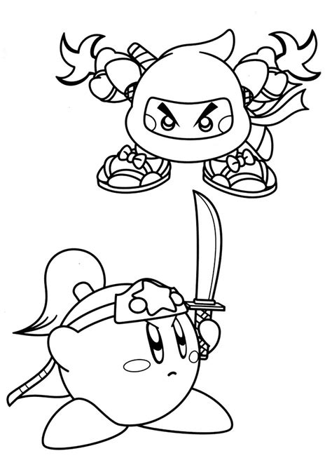 kirby characters coloring pages free printable kirby coloring pages for kids