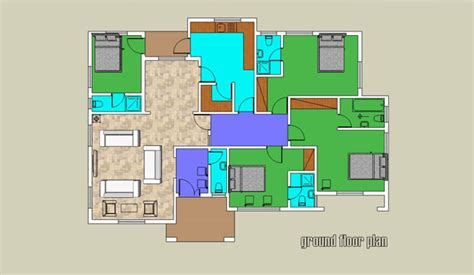 house designs floor plans nigeria 3 bedroom maids room bungalow bam projects