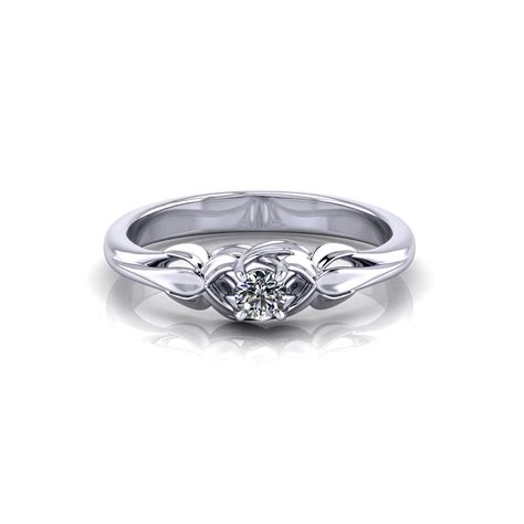 floral promise ring jewelry designs