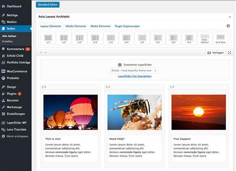 enfold theme upgrade baukastensystem archive joachimott journal