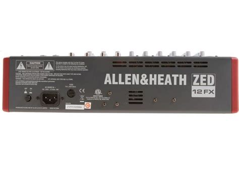 Mixer Allen Heath Zed 12 allen heath zed 12fx 12 channel mixer with usb and effects agiprodj