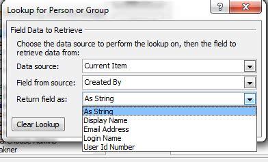 sharepoint workflow lookup sharepoint designer workflow lookup column
