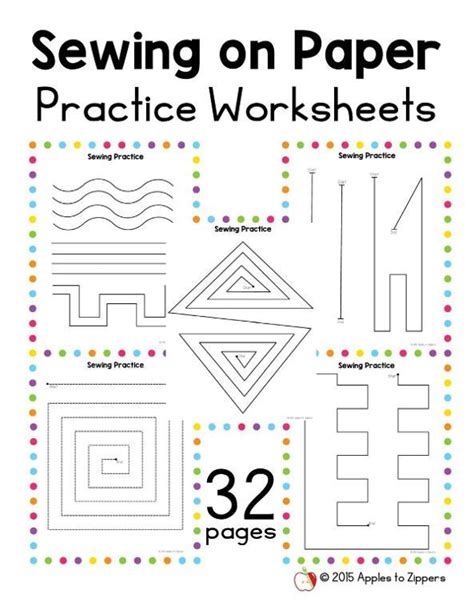 printable paper sewing practice sheets sewing practice papers by applestozippers craftsy
