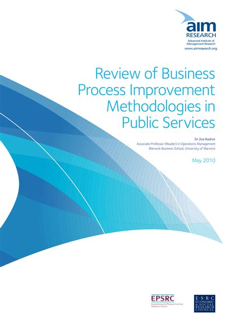 Mba Process Improvement by Review Of Business Process Improvement Pdf