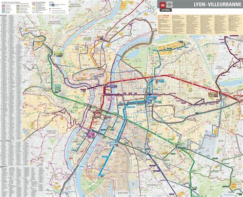 lyon on a map lyon and villeurbanne metro and streets tcl maplets