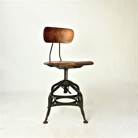 drafting bar stool antique factory industrial toledo drafting stool