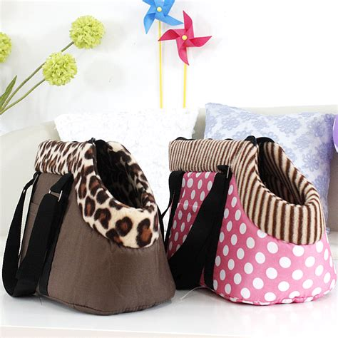 puppy bags pet bag carrier travel carrying bag for dogs and cats leopard print small bag