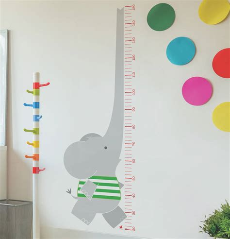 height wall sticker elephant height chart wall sticker by ella and george