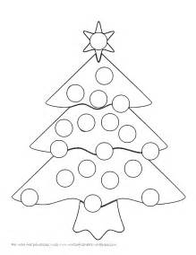 christmas tree bingo dauber coloring pages coloring