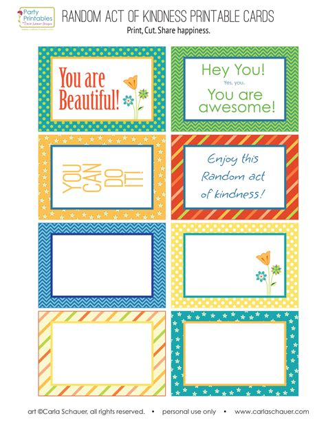 random acts of kindness template random act of kindness free printables carla schauer designs