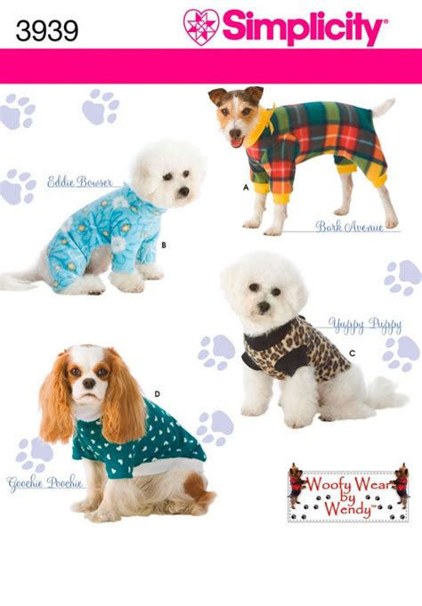 dog clothes pattern book 3939 simplicity pattern dog clothes in three sizes