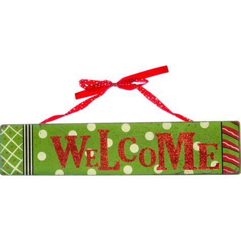 wooden holiday welcome sign 18 quot x 4 quot 64012
