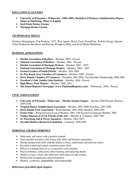 Real Estate Specialist Sle Resume by Mortgage Broker Resume Sle 28 Images Real Estate Broker Sle Resume 28 Images Sle Real Real