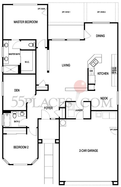 sun city macdonald ranch floor plans amber floorplan 1543 sq ft sun city macdonald ranch
