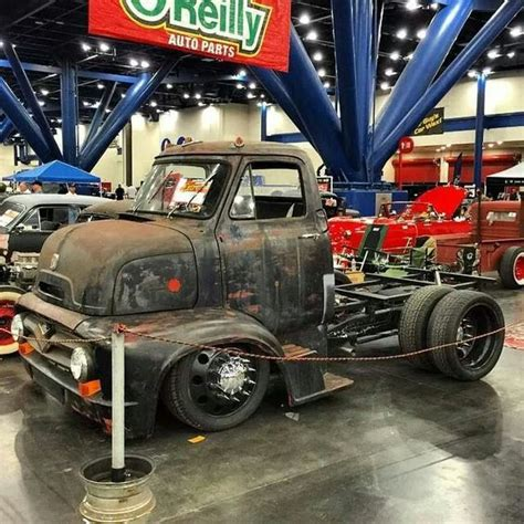classic and ford trucks on