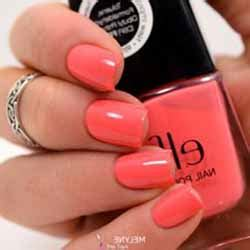 modele ongle gel corail ongles couleur corail