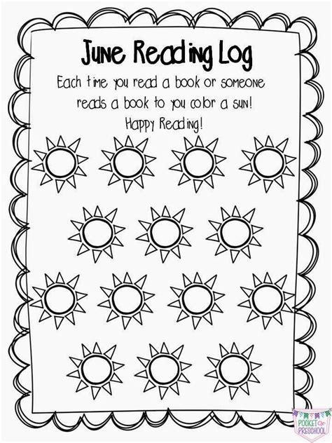 printable reading log for kindergarten preschool pre k kindergarten at home reading logs