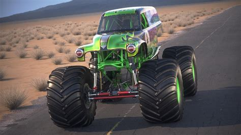 monster truck grave digger video grave digger monster truck desert