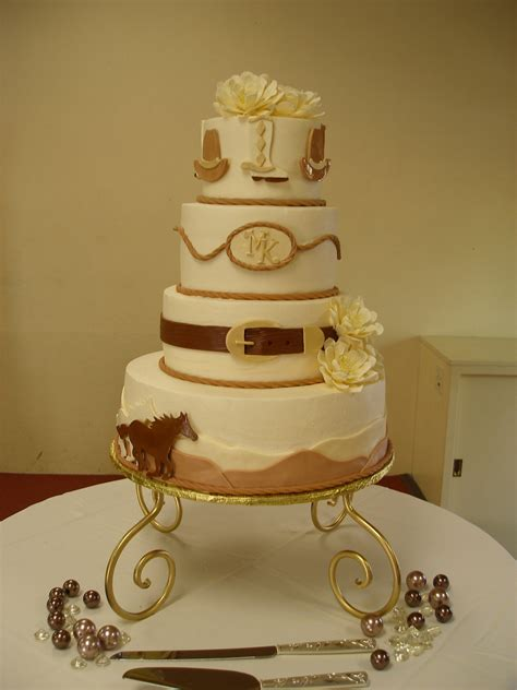western theme wedding cake cakecentral