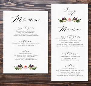 menu card templates free 36 menu card templates free sle exle format