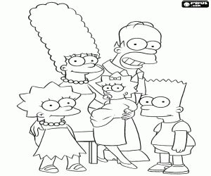 family portrait coloring page the simpsons coloring pages printable games