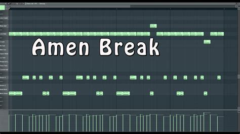 fl studio jungle tutorial amen break tutorial fl studio youtube