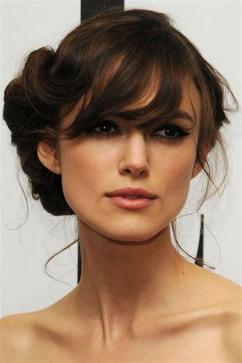 picture of chic and pretty wedding hairstyles with bangs