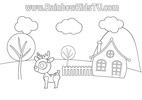 4 seasons coloring page rainbow kids tv
