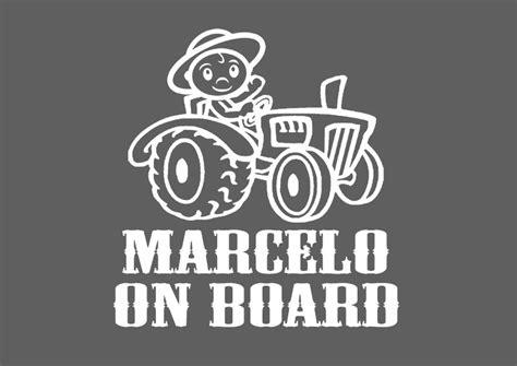 Autoaufkleber Baby Traktor li il autoaufkleber name traktor einfach online