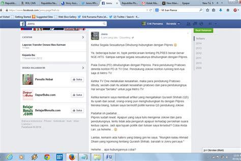 membuat artikel di facebook ternyata quot jonru quot yang pertama kali sebut quraish shihab