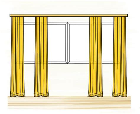 Window coverings to balance proportions of unusually large window designs