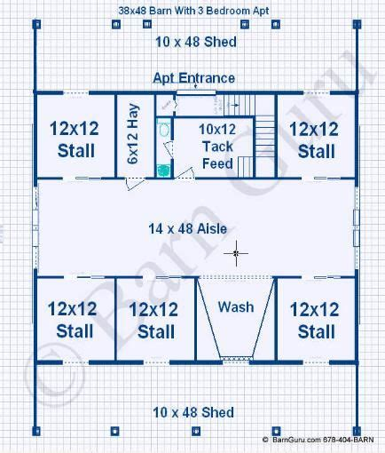 horse stall floor plans horse barn with apt over barns pinterest see best