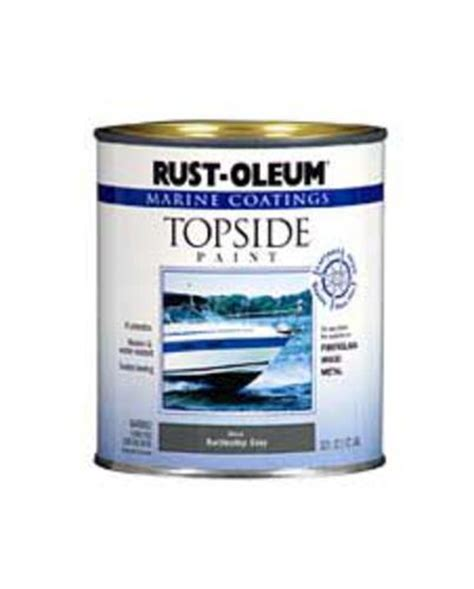 rust oleum 174 marine coatings gloss battleship gray topside paint 1 qt at menards 174